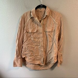 Mauve Free People Button Up